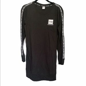 Calvin Klein Black Long Sleeve Dress